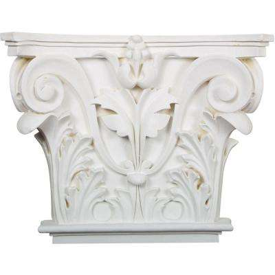 16-1/2 in. x 13-5/8 in. x 3-3/4 in. Polyurethane Acanthus Leaf Onlay Corbel
