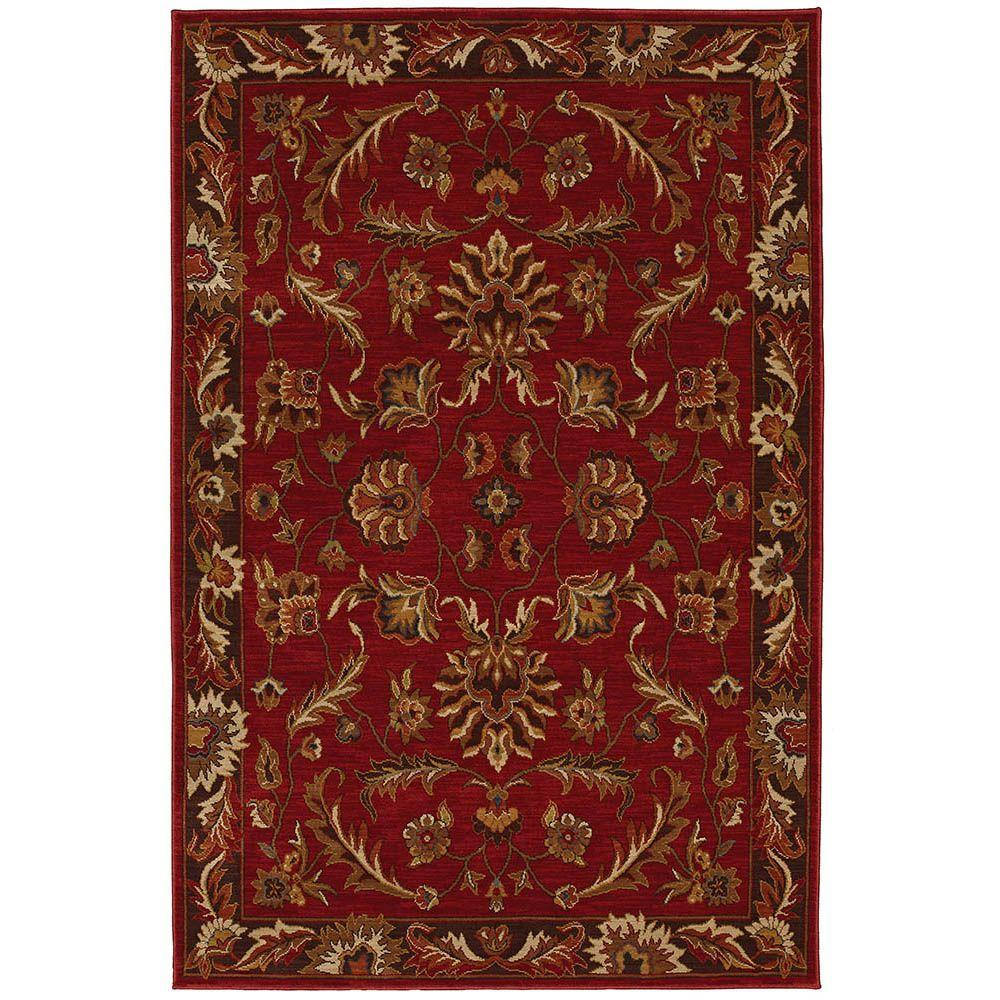 Karastan Walnut Park Red 9 ft. 6 in. x 12 ft. 11 in. Area Rug