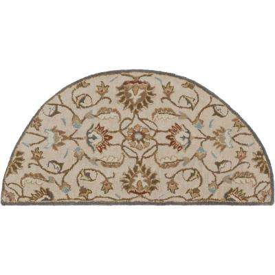 Galba Beige 2 ft. x 4 ft. Hearth Indoor Area Rug