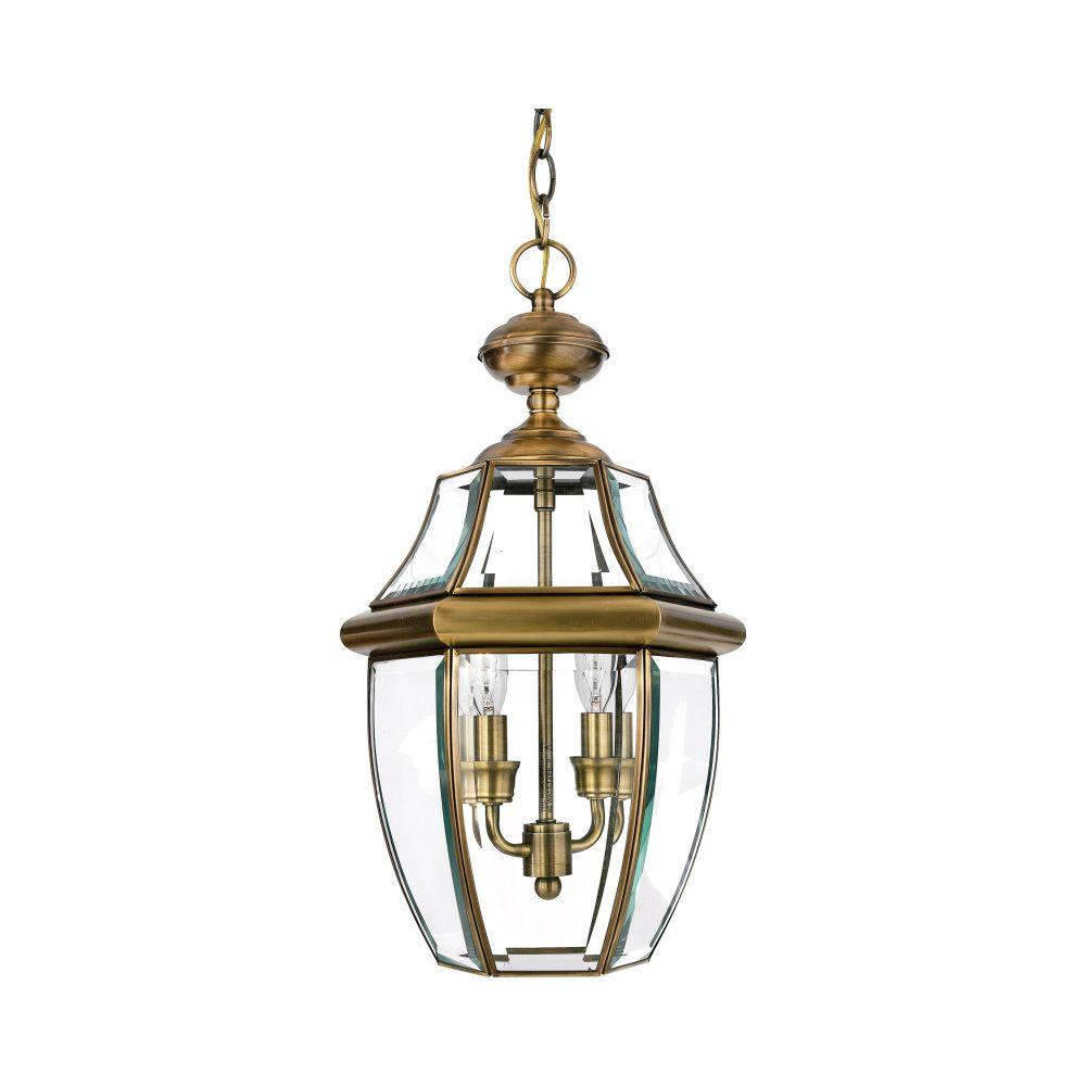 Filament Design Lawrence 2-Light Antique Brass Outdoor Incandescent Hanging Light