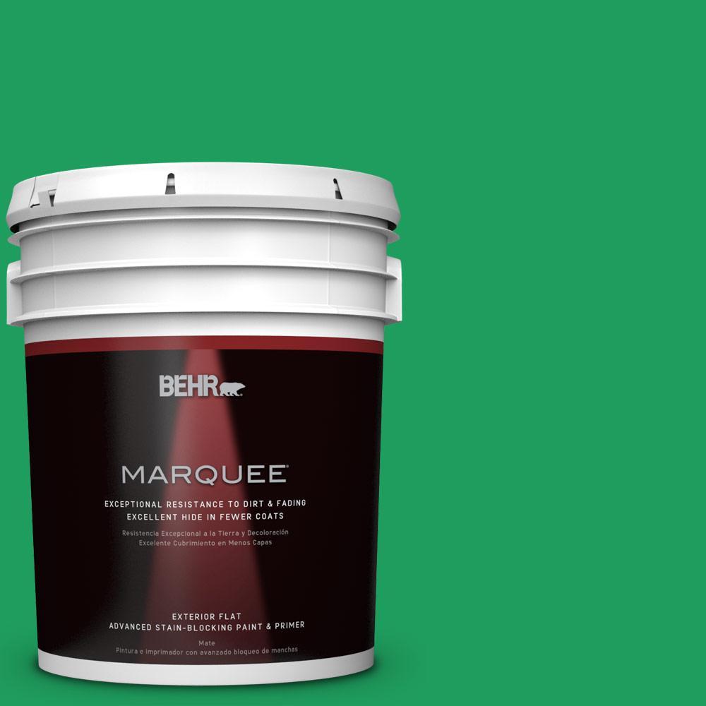 BEHR MARQUEE 5-gal. #S-G-450 Herbal Tea Flat Exterior Paint