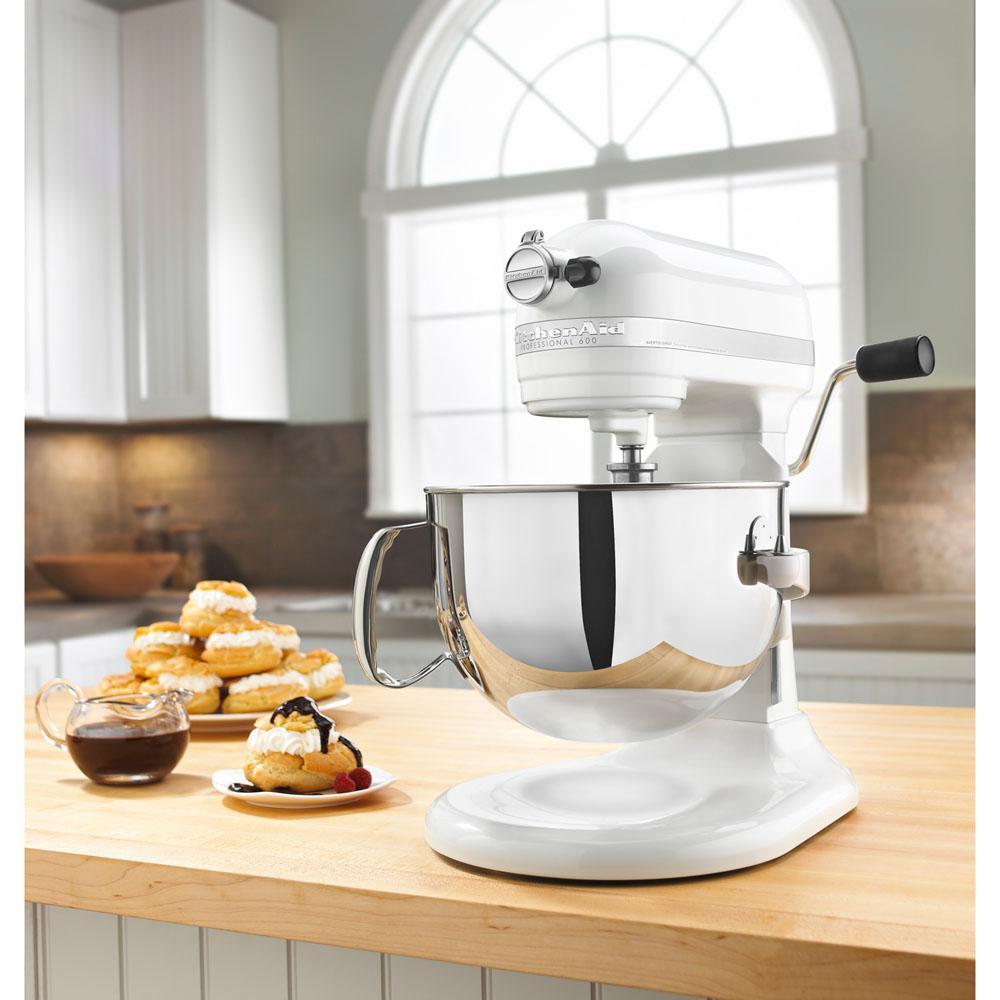 Internet #203427446. KitchenAid Professional 600 Series 6 Qt. White Stand  Mixer