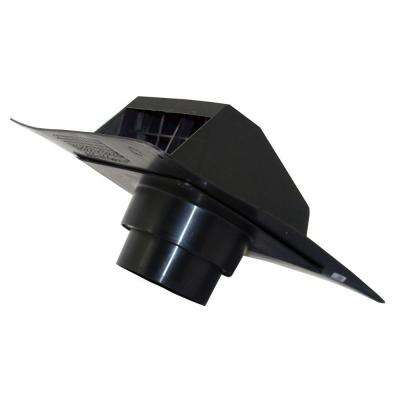 4 in. - 5 in. Heavy Duty Plastic Roof Exhaust Cap in Black for Dryer Exhaust Systems