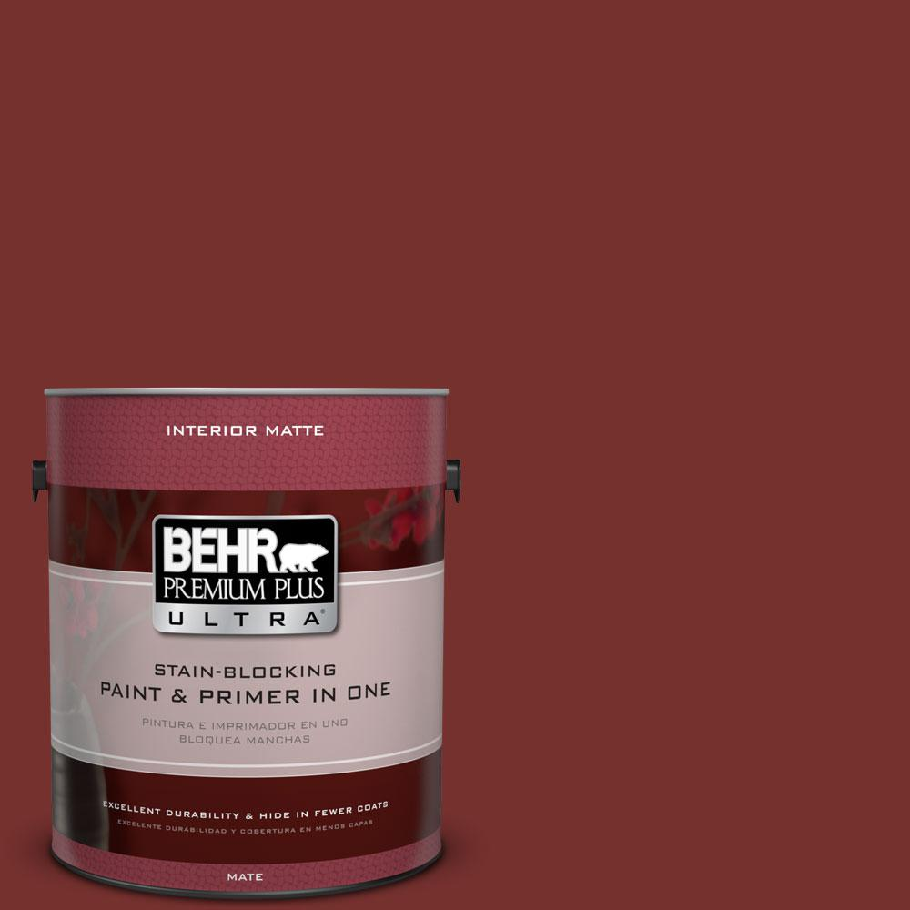 1 gal. #ECC-15-3 Cherry Bark Flat/Matte Interior Paint