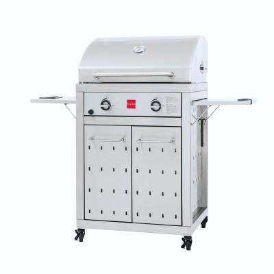 Premium 2-Burner Propane Gas Grill in Stainless Steel