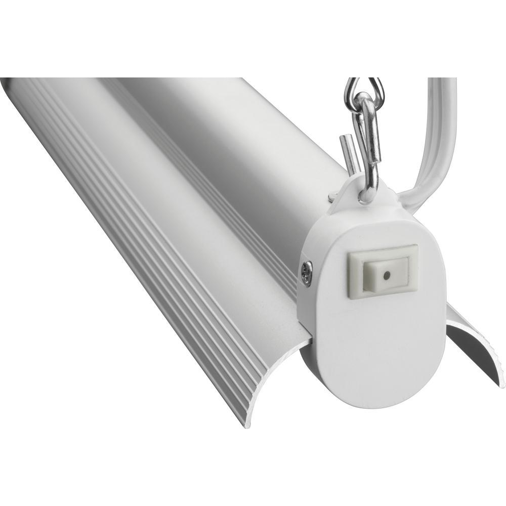 36-Watt Natural Aluminum Integrated LED Shop Light Lithonia Lighting 4 ft