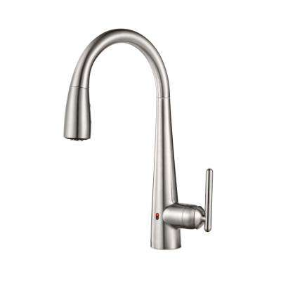 Lita Single-Handle Electronic Pull-Down Sprayer Kitchen Faucet with React Technology in Stainless Steel