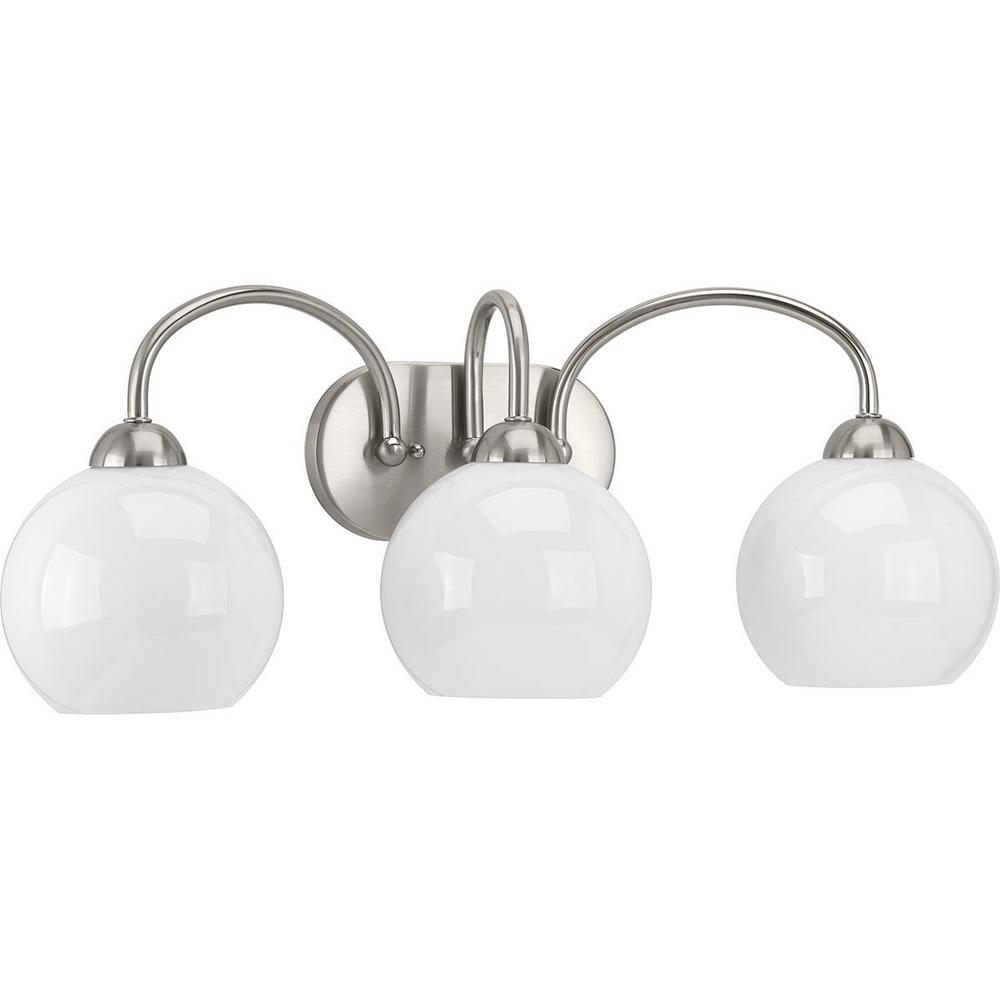 Carisa Collection 3-Light Brushed Nickel Bath Light