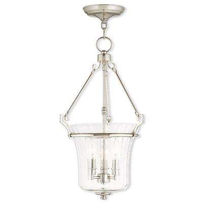 Cortland 3-Light Polished Nickel Pendant