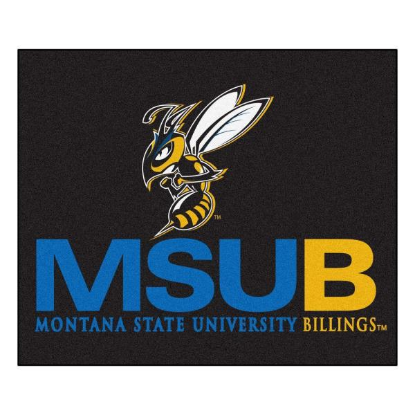 NCAA Montana State University Billings Black 5 ft. x 6 ft. Area Rug