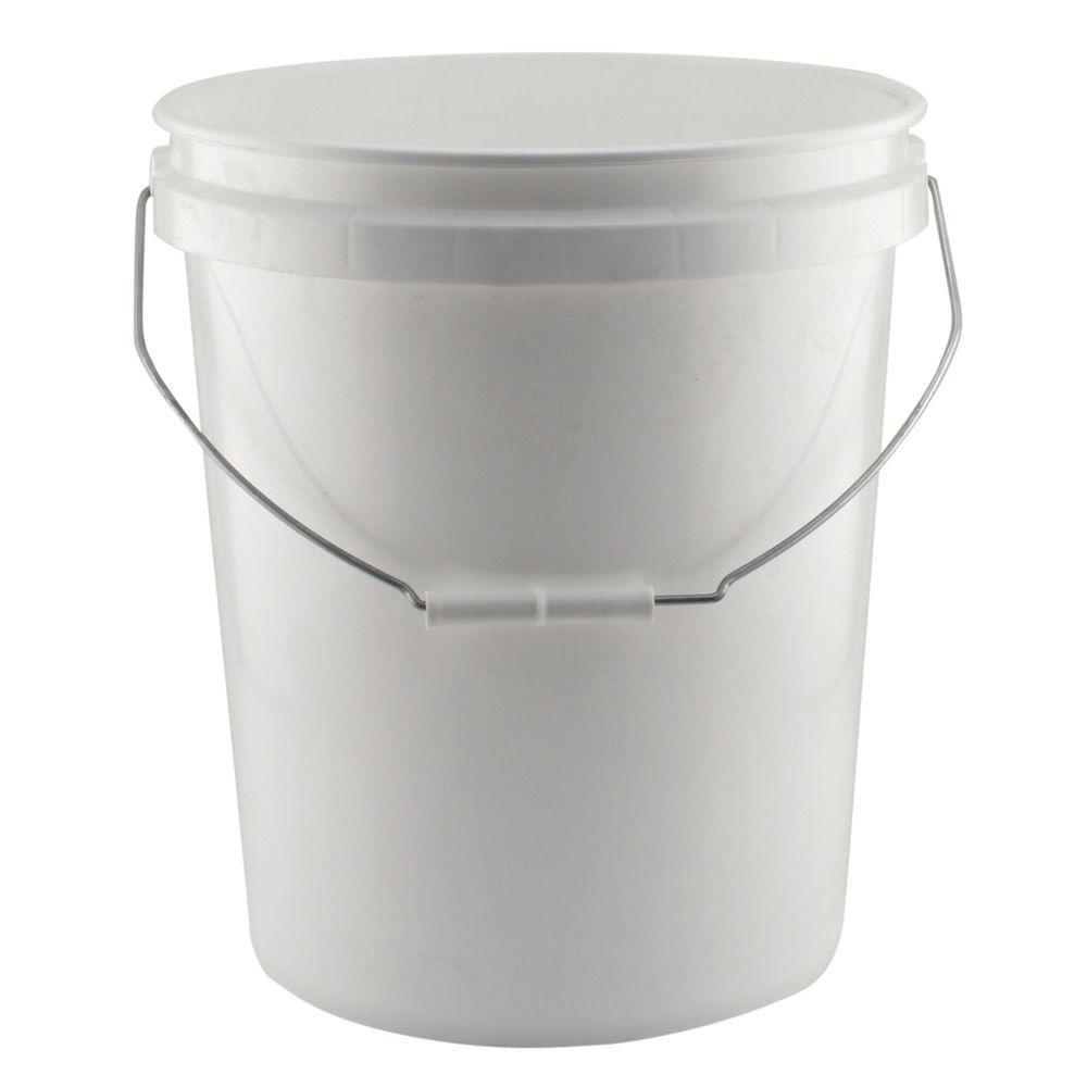 leaktite 5 gal white project bucket pack of 3 209337 the home depot