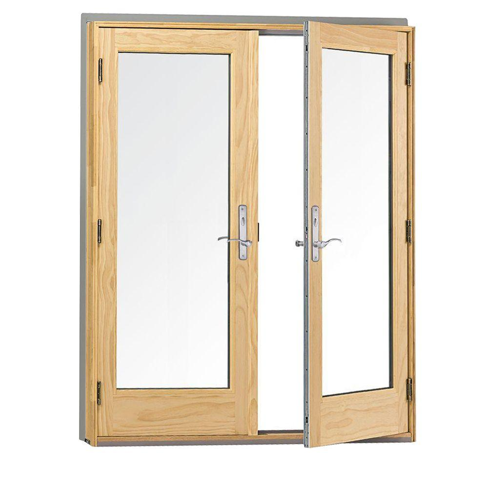 andersen 60 in x 80 in 400 series frenchwood white hinged inswing patio door - Anderson Patio Doors