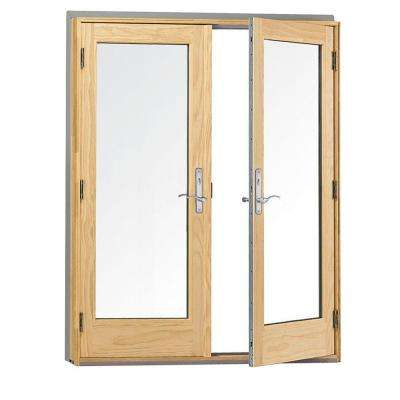 60 in. x 80 in. 400 Series Frenchwood White Hinged Inswing Patio Door