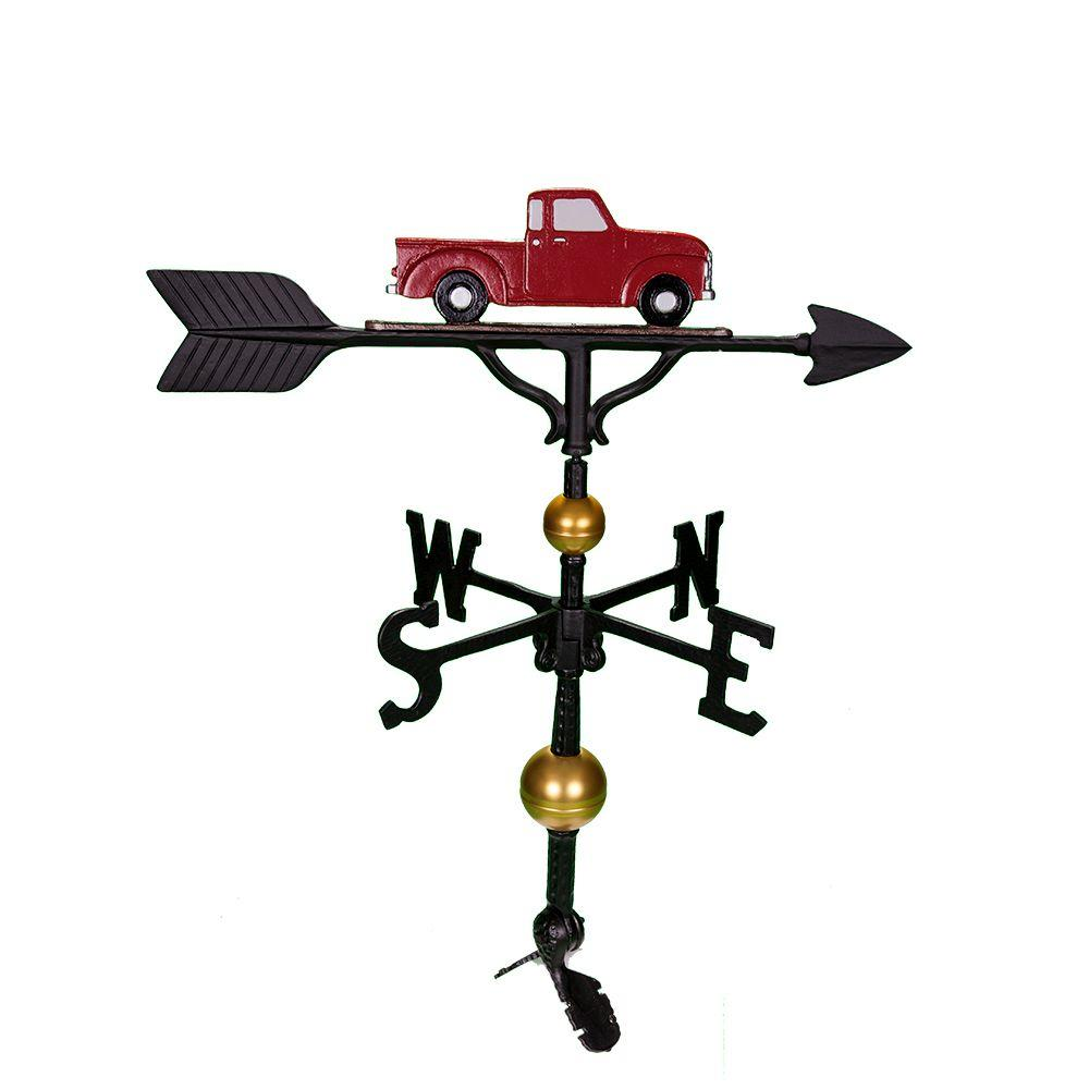Montague Metal Products 32 in. Deluxe Red Classic Truck Weathervane