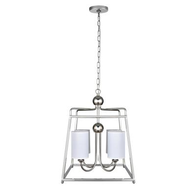Wagner 4-Light Polished Nickel Pendant