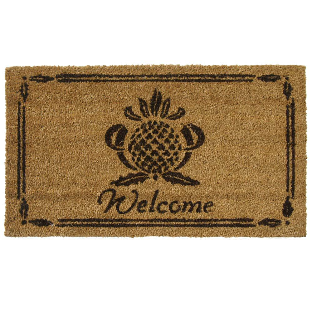 Rubber-Cal Pineapple 18 In. X 30 In. Welcome Mat-10-106