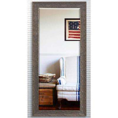 31 in. x 71.5 in. Maclaren Brown Beveled Oversized Full Body Mirror