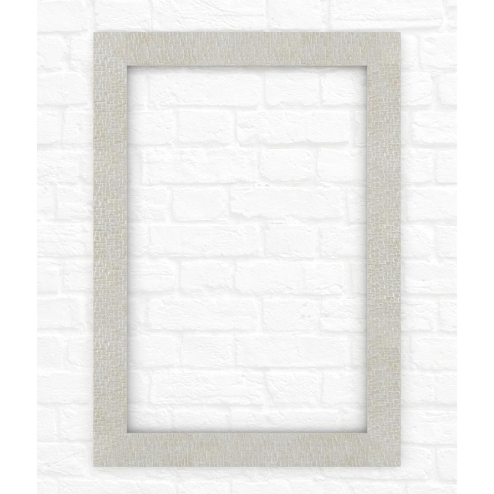 33 in. x 47 in. (L1) Rectangular Mirror Frame in Stone
