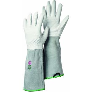 Garden Rose Size 7 Small Durable Goatskin Leather Gloves With Long Cowhide  Cuff For Extra Protection