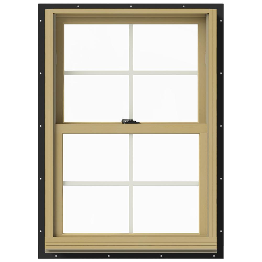 Jeld Wen 25 375 In X 36 In W 2500 Series Bronze Painted