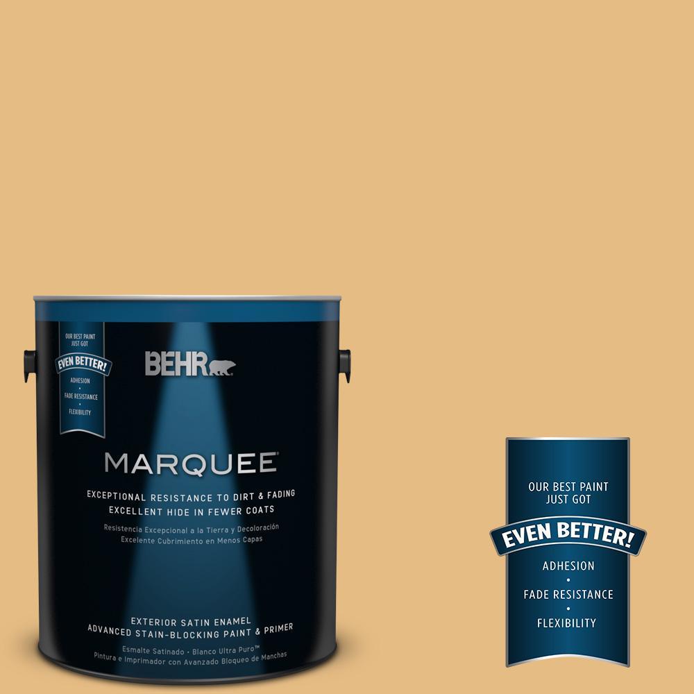 BEHR MARQUEE 1-gal. #320D-4 Arizona Tan Satin Enamel Exterior Paint