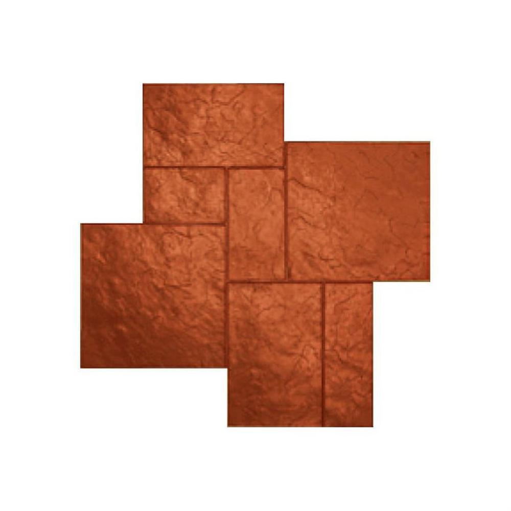 48 in. x 48 in. Colorado Sandstone Copper Floppy Stamp