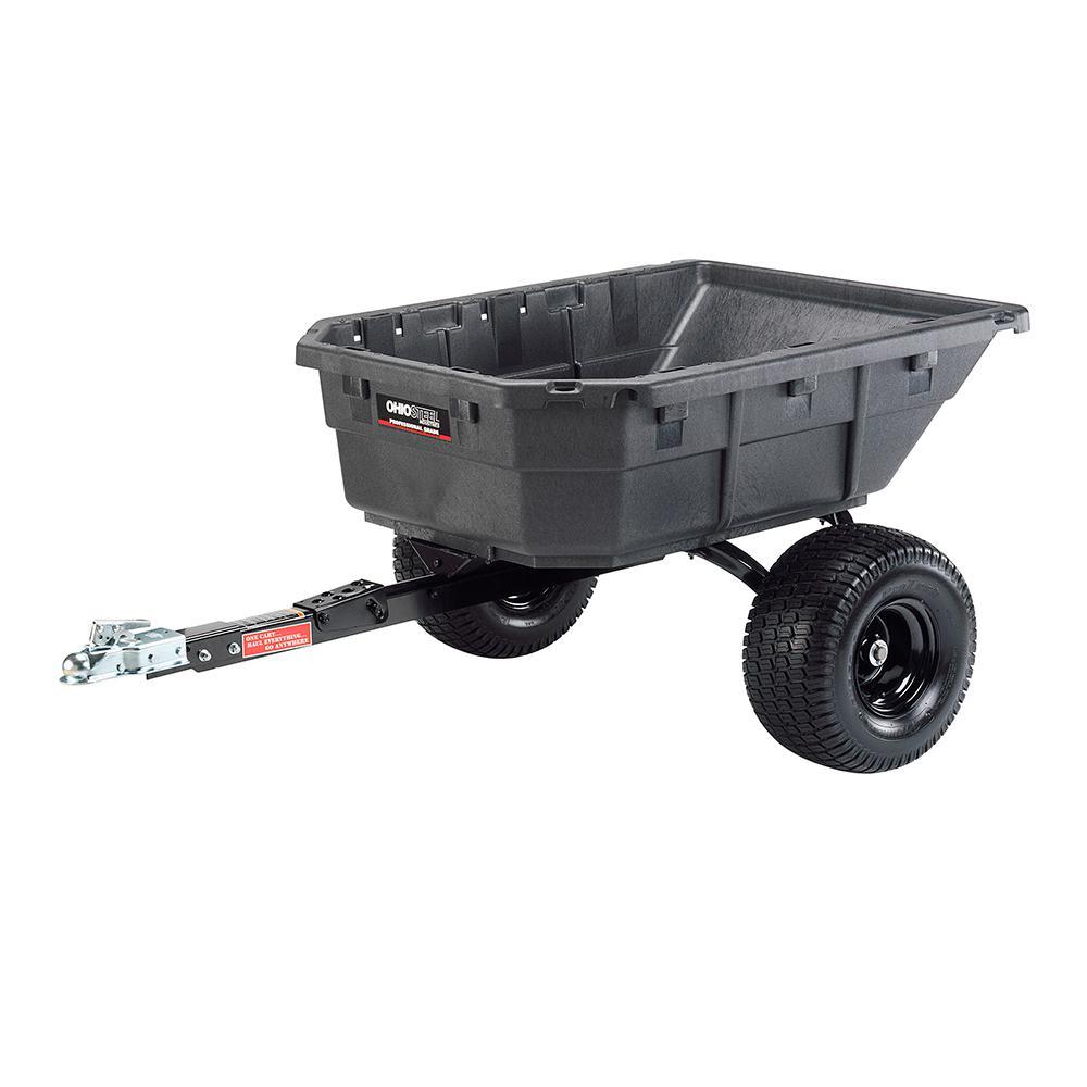 Ohio Steel 12.5/15.0 cu. ft. 1250 lb. Capacity Poly Swivel ATV Cart
