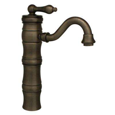 Vintage III Single Hole Single-Handle Bathroom Faucet with Traditional Spout in Pewter
