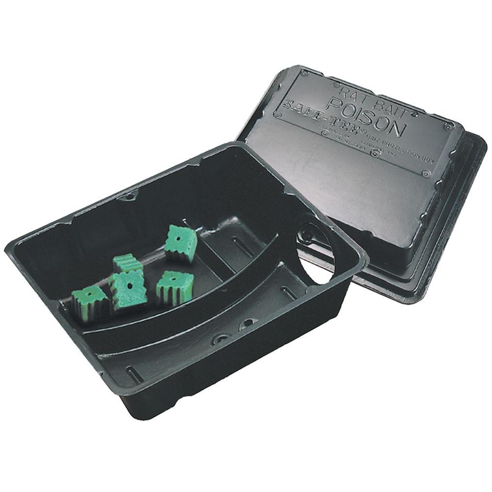 Rat Sized Safe-Tee Plastic Bait Station with Solid Lid (24-Pack)