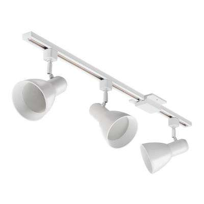 Baffle 44.5 in. 3-Light White Track Lighting Kit
