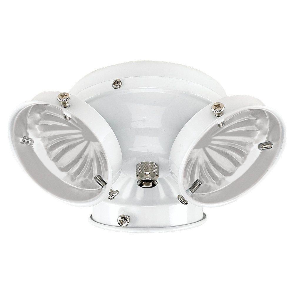 3-Light White Ceiling Fan Light Kit