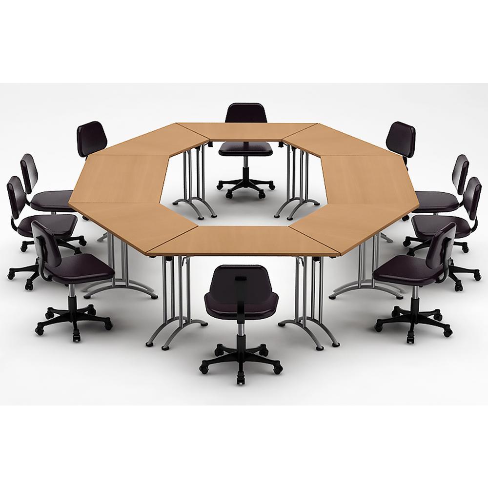 Teamwork Tables 8 Piece Natural Beech Conference Meeting Seminar Compact Space Maximum