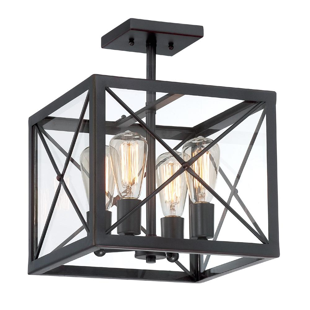 Designers Fountain High Line 4 Light Satin Bronze Interior