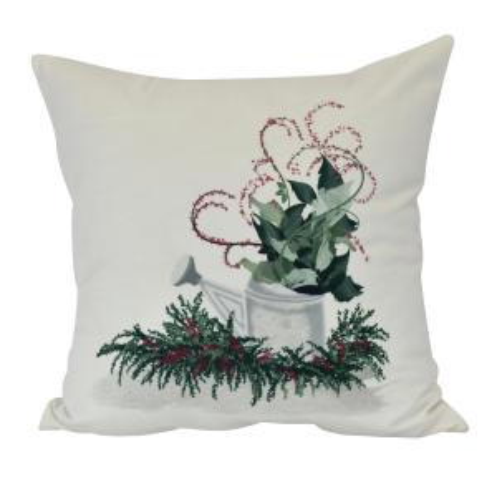 E by design Farmhouse Holiday Off Decorative Geometric Throw Pillow 18 White