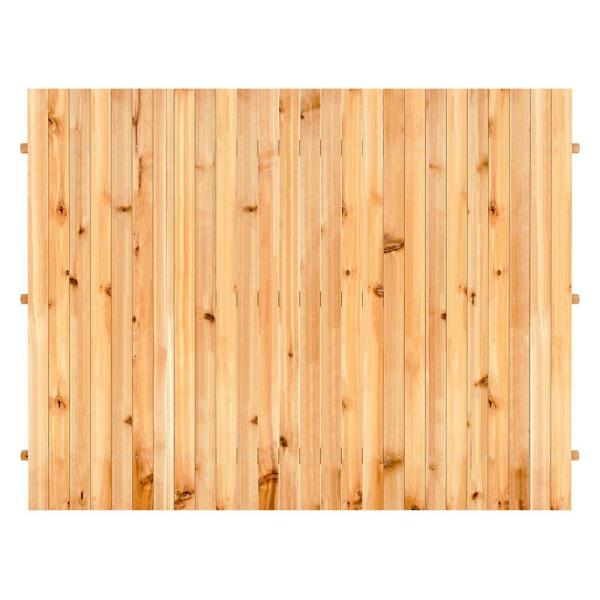 6 ft. x 8 ft. Cedar Doweled Flat-Top Fence Panel