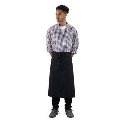 Durable Denim Adult Bistro Apron, Black