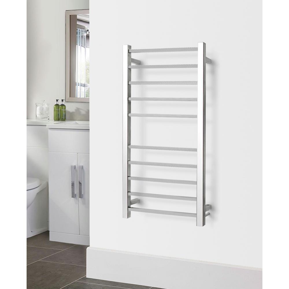 Metropolitan 10-Bar Electric Towel Warmer in Polished Stainless Steel