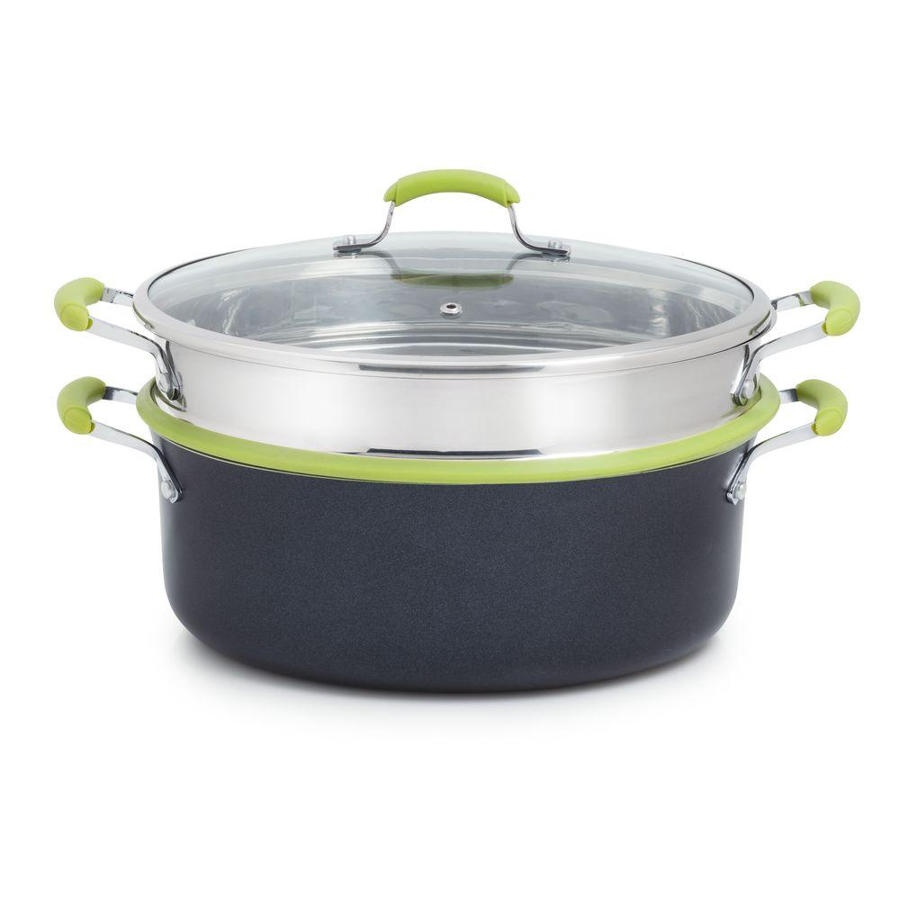 T-Fal Balanced Living 7 qt.Oval Dutch Oven with Steamer