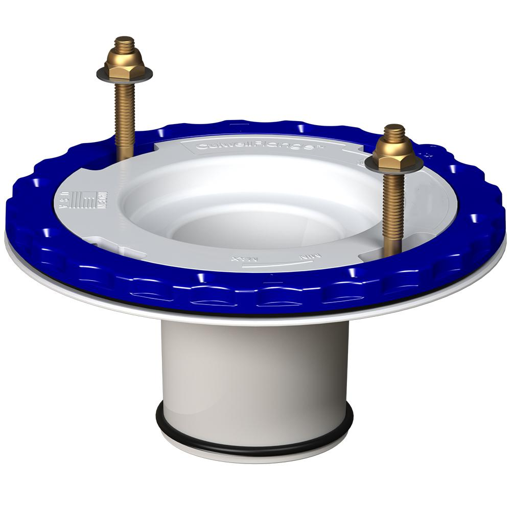 3 in. Compression Floor Protecting PVC Toilet Flange in White
