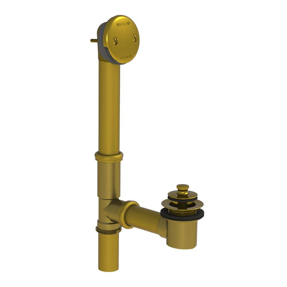 Watco 501 Series 16 In Tubular Brass Bath Waste With Lift