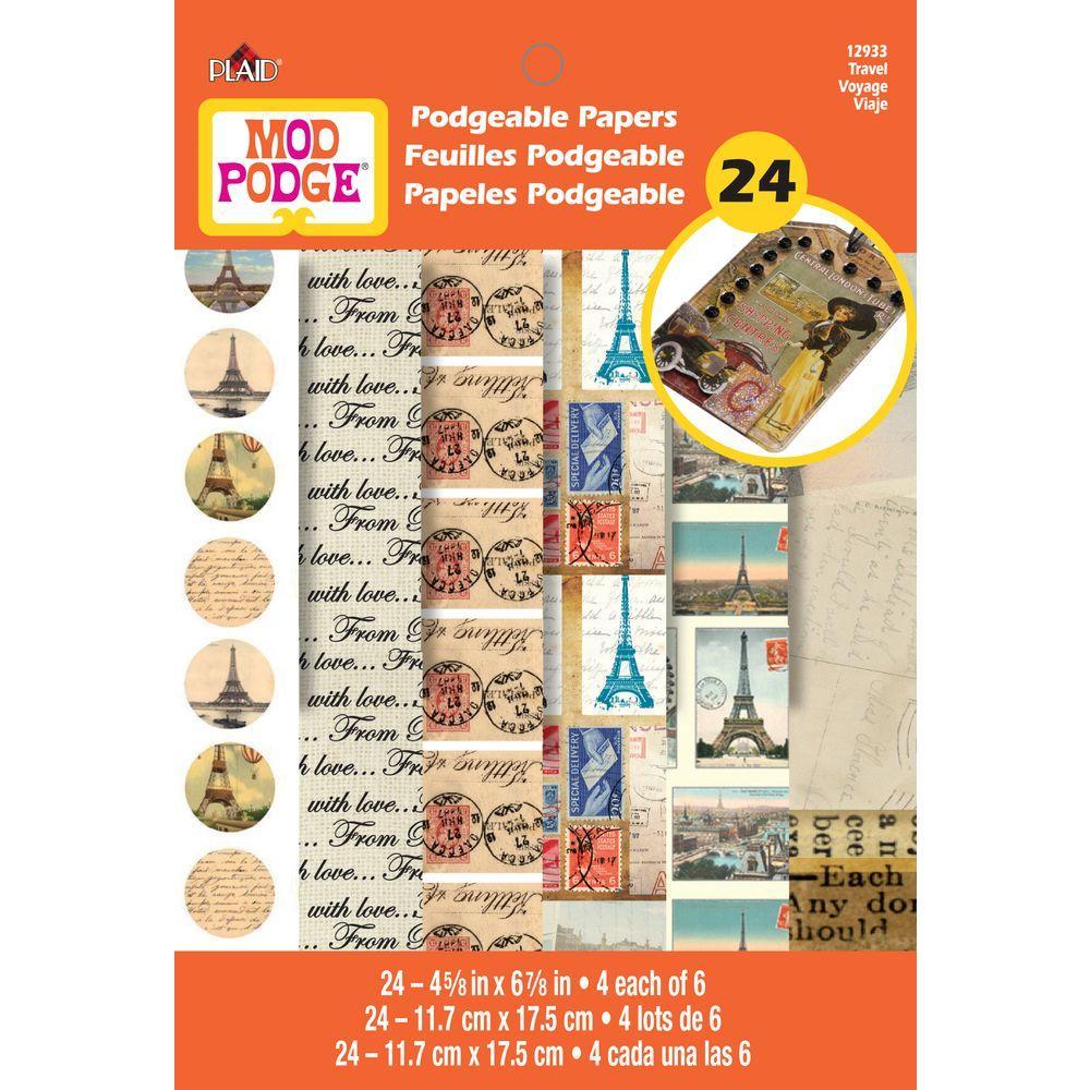 Mod Podge Travel Podgeable Paper Flip Books