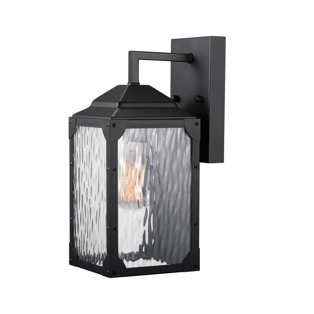 Globe Electric Miller 1-Light Black Outdoor Wall Mount Sconce