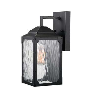 Miller 1-Light Black Outdoor Wall Mount Sconce