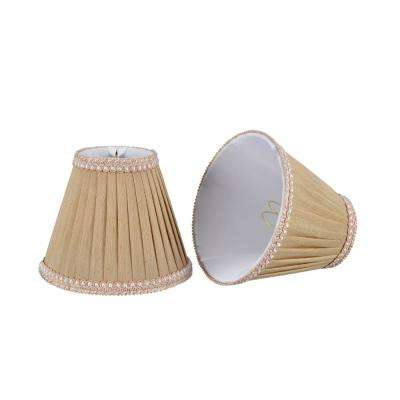6 in. x 5 in. Creme Pleated Empire Lamp Shade (2-Pack)