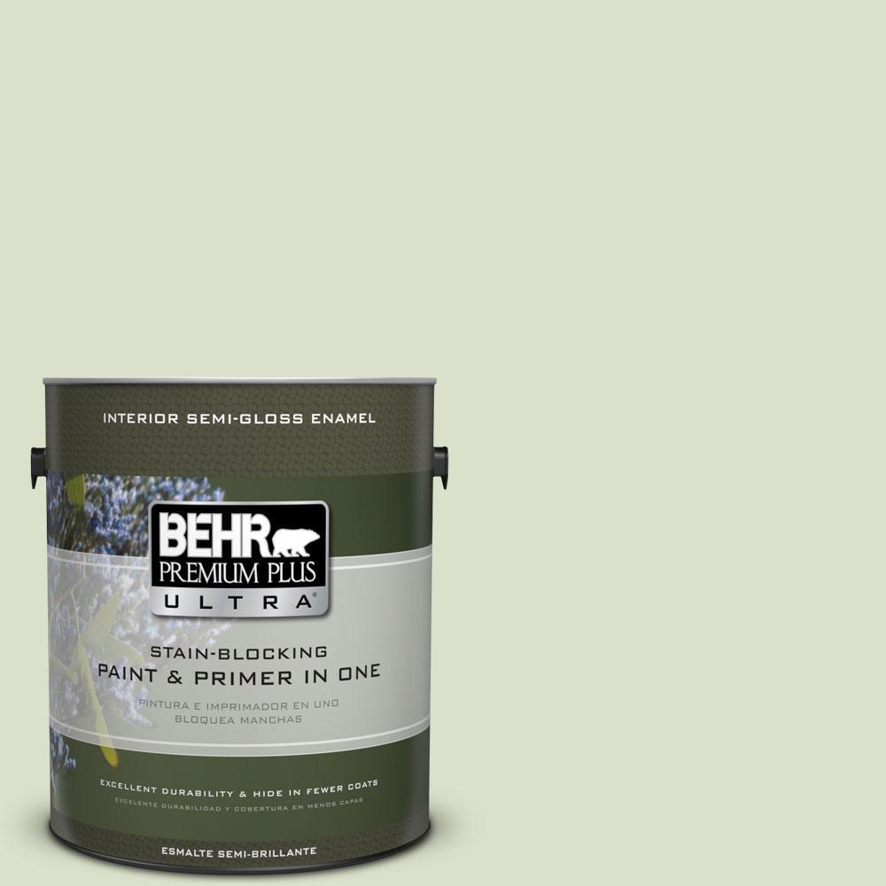 1-gal. #420E-2 Palm Breeze Semi-Gloss Enamel Interior Paint