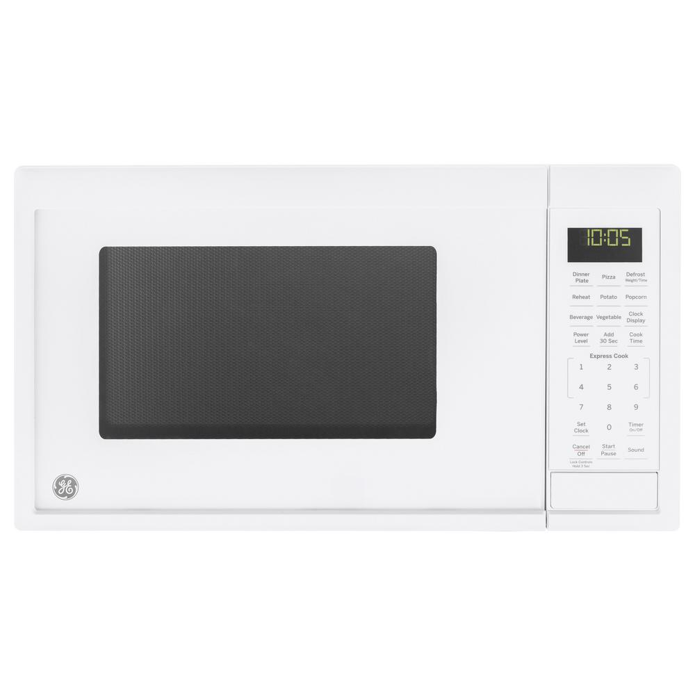 GE 0.9 cu. ft. Countertop Microwave in White