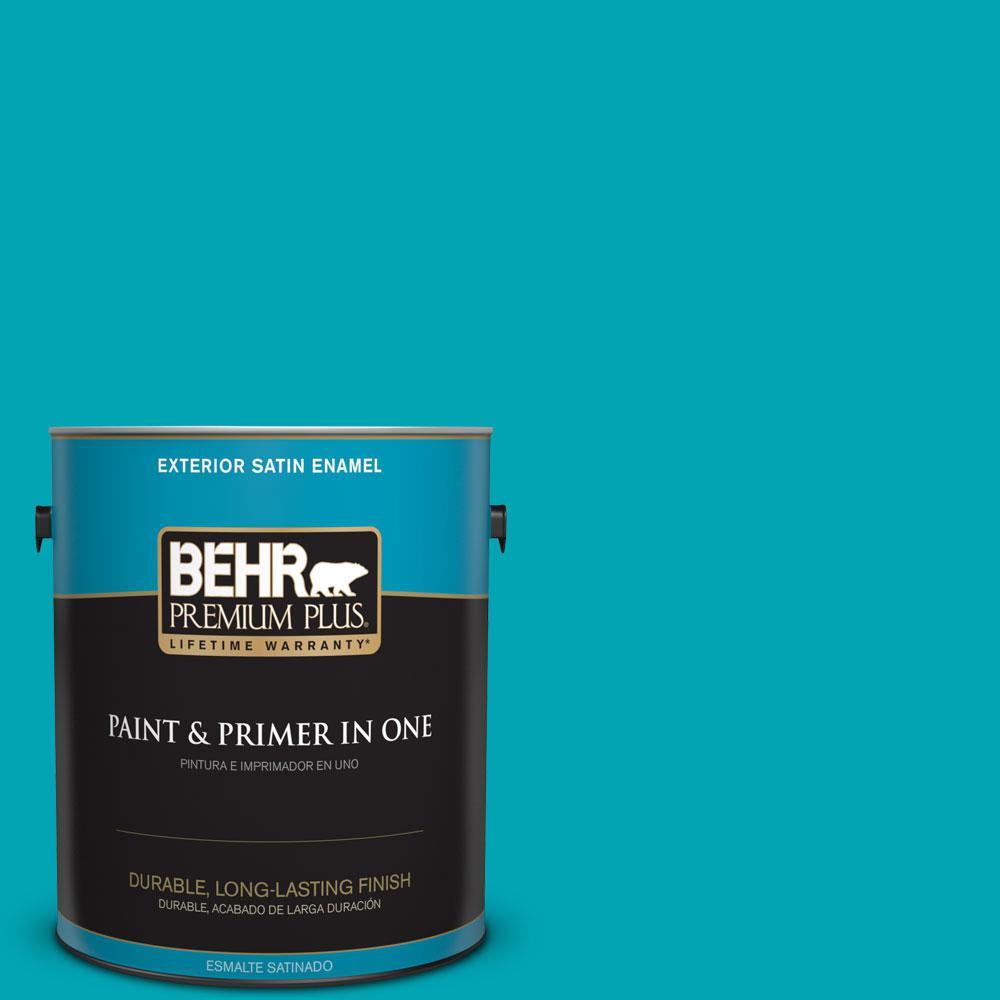 1-gal. #510B-6 Blue Jewel Satin Enamel Exterior Paint