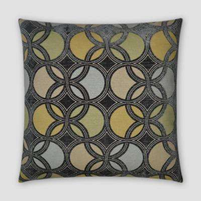 Roundabout Stone Feather Down 18 in. x 18 in. Standard Decorative Throw Pillow