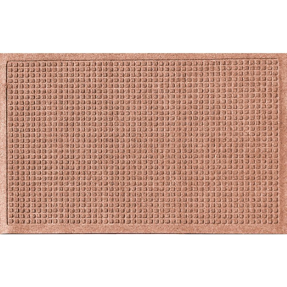 Aqua Shield Medium Brown 24 in. x 36 in. Polypropylene Door Mat