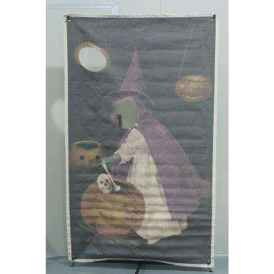 72.75 in. Halloween Photo Banner with Witch Design
